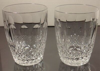 2 Vintage Waterford Crystal Colleen 5 Ounce Tumblers Juice Glasses 3 1/2""
