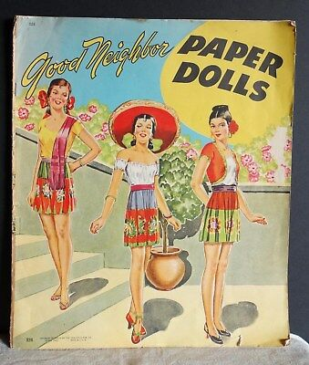 Good Neighbor Paper Dolls Saalfield Publishing Co. 1944 #324
