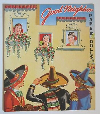 Saalfield 1944 Good Neighbor Paper Dolls w/ 6 Dolls Unused & Uncut South America
