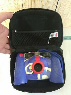 Fisher Price Kids Digital Camera with Case 2006 Blue White Red Kid Tough TESTED