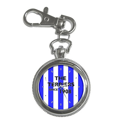 The Terriers Since 1908 Huddersfield Round Keychain Watch **great Gift Item**