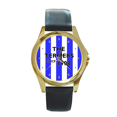 **new** The Terriers Since 1908 Huddersfield Round Wristwatch **fantastic Item**