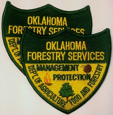 Oklahoma Forestry Services Shoulder Patch, Pair!