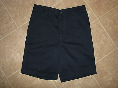 "Lee School Girl's Size 12 (Waist 26"") Navy Shorts - NWT"