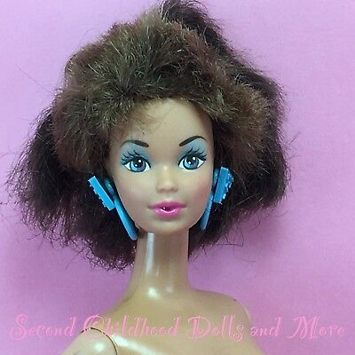 Barbie 1988 STYLE MAGIC WHITNEY Nude Steffie Face Brunette TNT Doll A71 *HAIRCUT