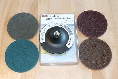 Scotch-Brite 4-1/2 Surface Conditioning Trial Sample Pack Backup Pad Disc Holder