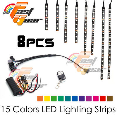 Motorclcyes LED Lighting LED Light Strip RGB x8 Fit Aprilia Motorcycles