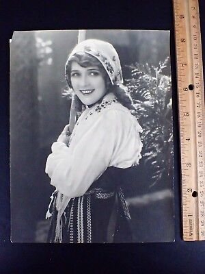 "Original 6 1/2 X 8 1/2"" B&w Photo Mary Pickford K.o. Rahm"