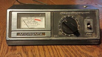 Vintage Micronta Field Strength Tester and SWR Meter
