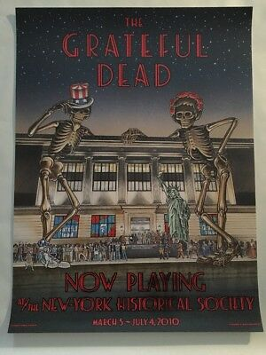 Grateful Dead New York Historical Society 2010 Poster Lim. Ed. 300 Rare!