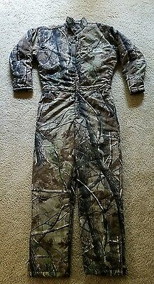 Scent Shield S3 Coveralls Full Body REALTREE Camo Tree Suit Size M Thick