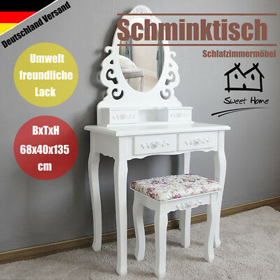 schminktisch frisierkommode kosmetik frisier make up tisch inkl hocker spiegel eur 42 50. Black Bedroom Furniture Sets. Home Design Ideas