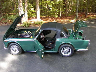 1965 Triumph TR4A  1965 Triumph TR4A British Racing Green Wire Wheel Roadster One Owner From Estate