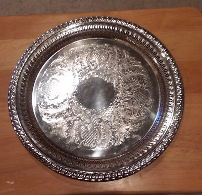 Leonard Sterling Silver Plate Dish 12 inches