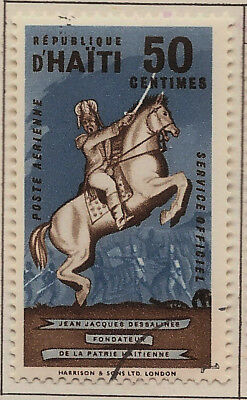 1962 Haiti Air Mail Official: #CO6 Jean Jacques Dessalines Monument ( 50c ) Used