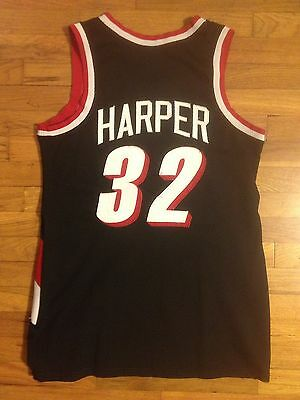 1990's MICHAEL HARPER Portland Trailblazers #32 Alumni Game Worn Used Jersey AU