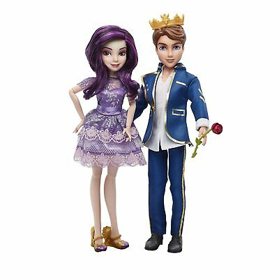 Disney Descendants Isle of the Lost Mal and Ben Auradon Doll Set
