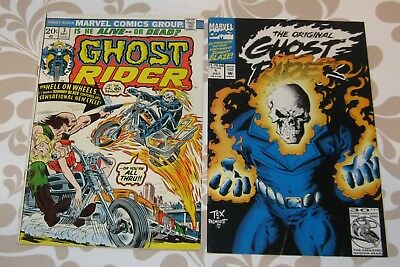 Ghost Rider #3 (Dec 1973, Marvel) with Ghost Rider #1 1992 lot of 2 comics, fine