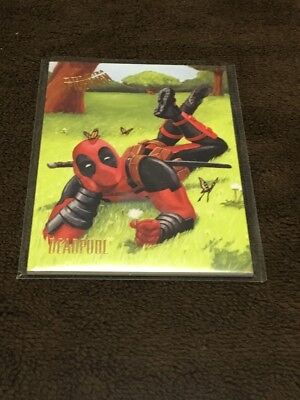 H 2017 Fleer Utlra Spiderman Marvel Deadpool