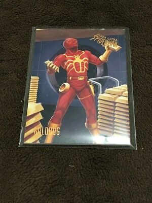 H 2017 Fleer Utlra Spiderman Marvel Goldbug
