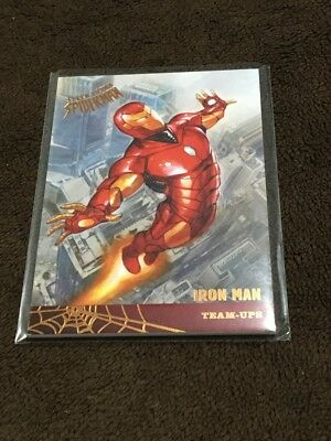 H 2017 Fleer Utlra Spiderman Marvel Iron Man