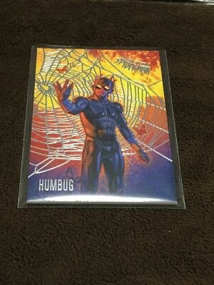 H 2017 Fleer Utlra Spiderman Marvel Silver Web Foil Humbug