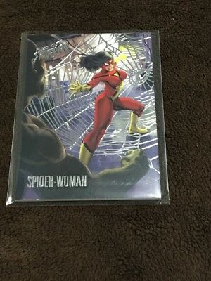 H 2017 Fleer Utlra Spiderman Marvel Silver Web Foil Spider Woman