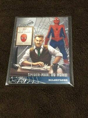 H 2017 Fleer Utlra Spiderman Marvel Silver Web Foil Spiderman No More Milestones