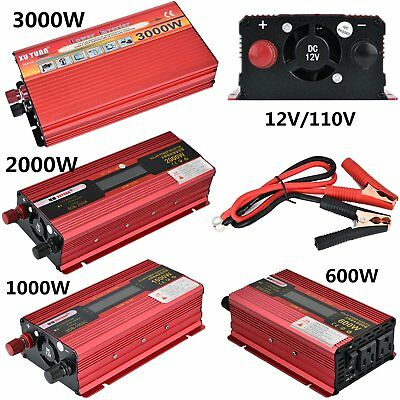 2000W 3000W Watt DC 12V AC 110V Car Power Inverter Electronic Charger Converter