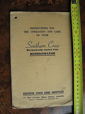 Southern Cross Refigerator Instruction Manual
