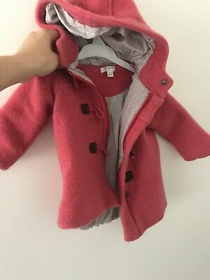 Pure Baby Pink Wool Coat 6-12 Months