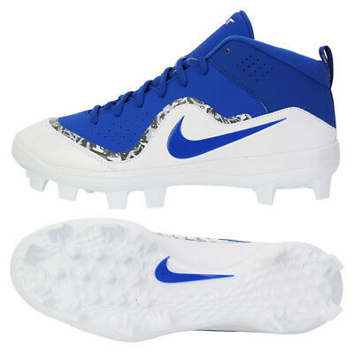 Nike Force Trout 4 Pro Baseball Cleats BSBL Shoes White/Blue 917922-441