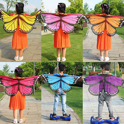 US Stock Fairy Butterfly Wings Dress Costume Pretend Play Girl Boy Birthday Gift