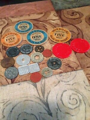 Lot Of Sales Tax Coins. Missouri, Etc