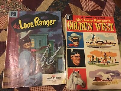 The Lone Ranger #88 (Oct 1955, Dell) And Dell Giant No 3 Lot Of 2