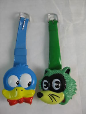 VINTAGE 80s RETRO ANIMAL CHARACTER KIDS WATCH LOT OF 2