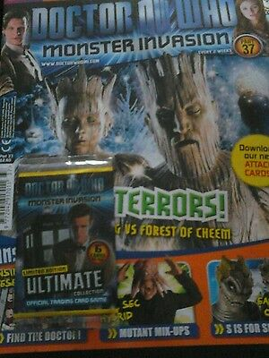 Doctor Who Monster Invasion magazine issue 37 Ultimate Limited Edition Cards