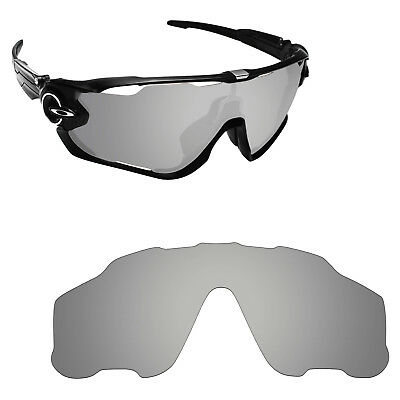 Hawkry Silver Polarized Replacement Lens for-Oakley Jawbreaker Sunglass UVA&UVB