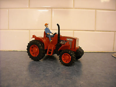 """Breyer Stablemate Farm Red Toy Tractor & Rider Detailed 5"""" Barn Stable Play Set"""