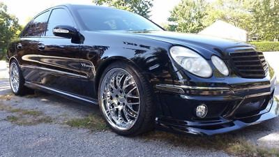 2004 Mercedes-Benz E-Class  2004 Mercedes E55 AMG 5.5 supercharged stock motor lowered e63 front end