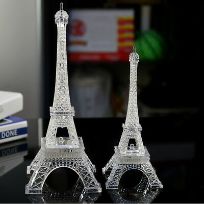 Valentine's Day Romance Glowing Paris Eiffel Tower Colorful Changing Night Light