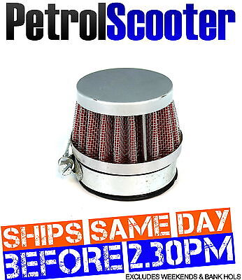 Motor Cycle Bike 42mm 44mm KN AIR FILTER Red Honda Suzuki Kawasaki Carburettor
