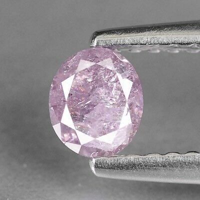 Diamond Pink Oval 0.46 cts Loose Diamond Fancy Natural F714