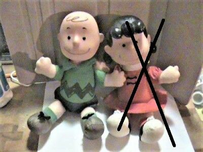 Vintage Stuffed Peanuts Characters Lucy 1963 and Charlie Brown 1966