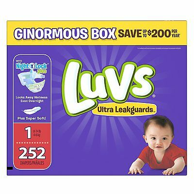 * NEW * Luvs Ultra Leakguards Newborn Diapers Size 1, 252 Count *FREE SHIPPING*