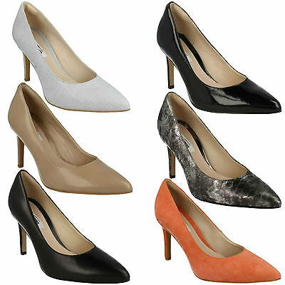 83d91155eeb Dinah Keer Ladies Clarks Stiletto Heel Slip On Pointed Toe Dress Court Shoes