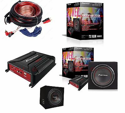 Pioneer gxt-3706b Bass Package 2 Channel Final Stage/Amplifier +30cm Subwoofer+