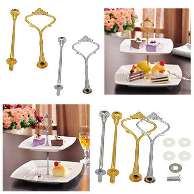 Crown 2 / 3 Tier Cake Cupcake Plate Stand Handle Hardware Fitting Holder Hot NEW