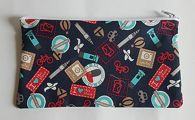 London Tourist Fabric Handmade Pencil Case Storage Pouch (Big Ben/Underground)