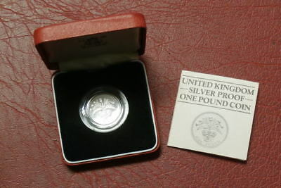 1984 Piedfort Silver Proof £1 Coin , One Pound (4)